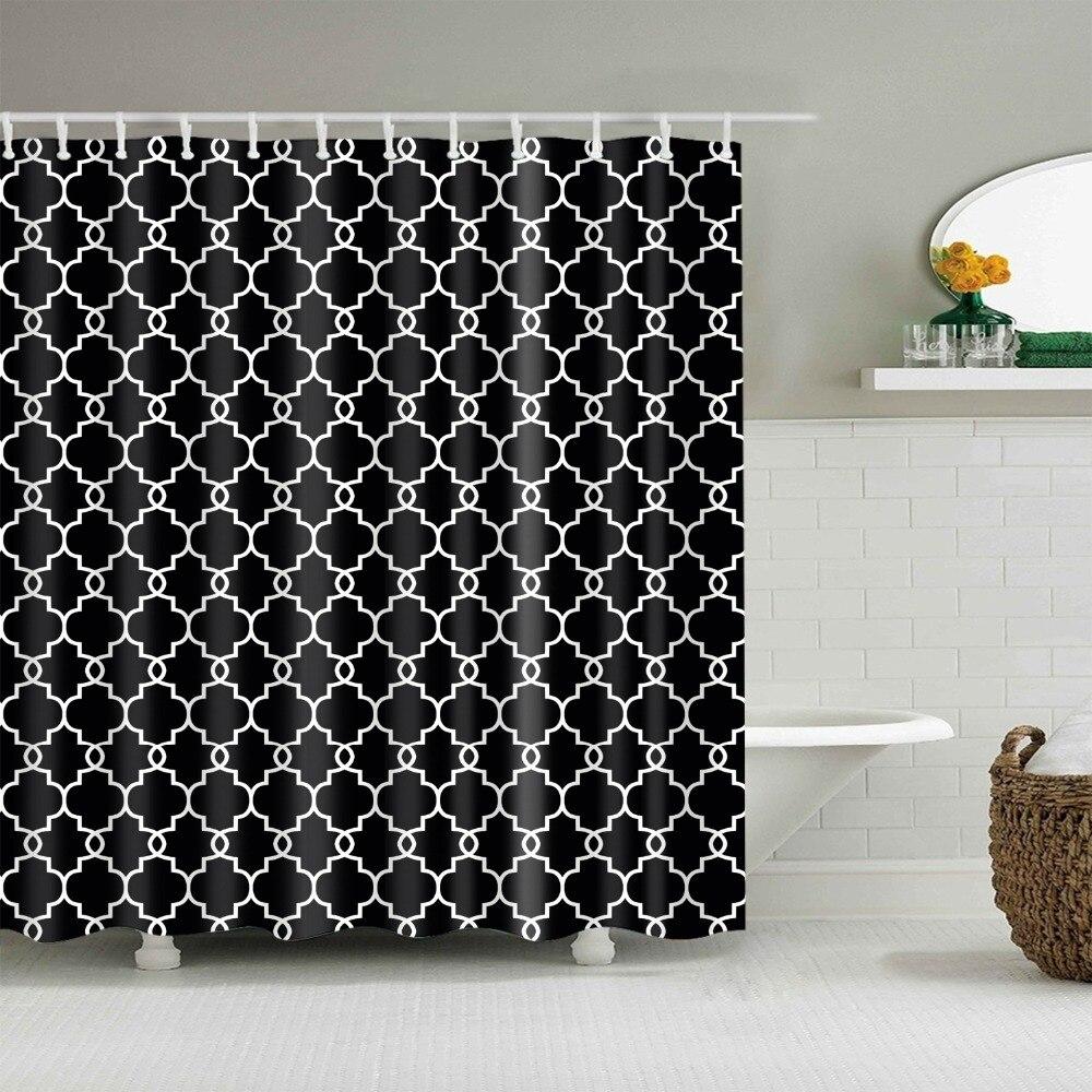Waterproof Geometric Pattern Shower Curtains