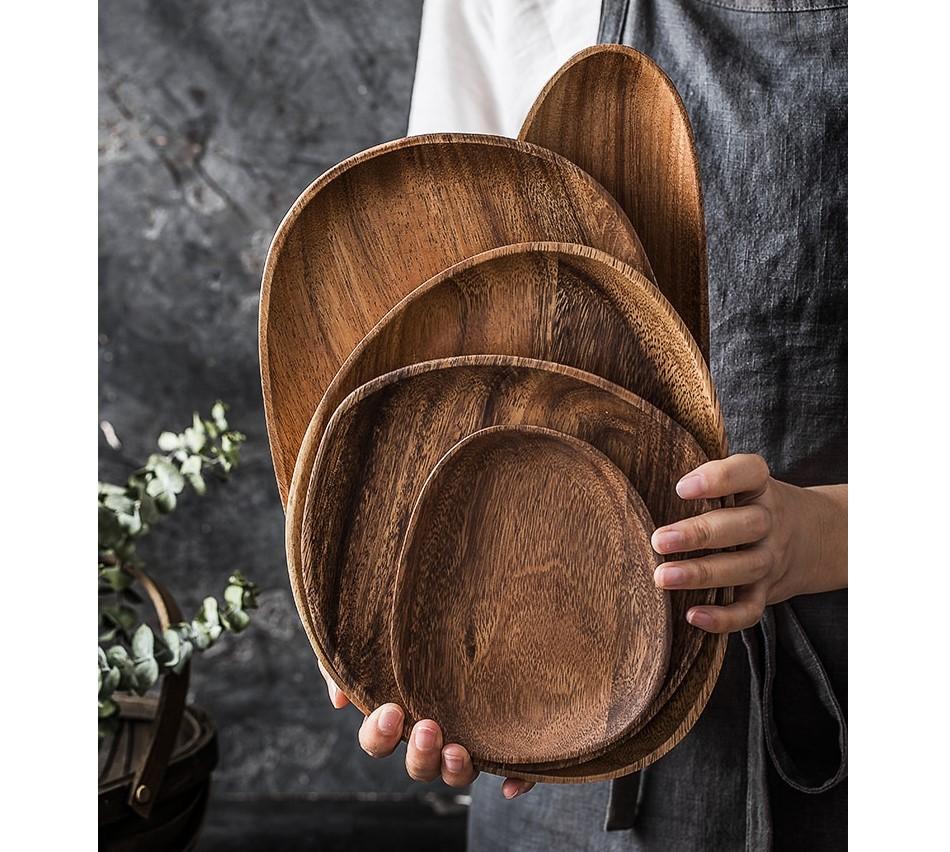Laconic Design Wooden Plate