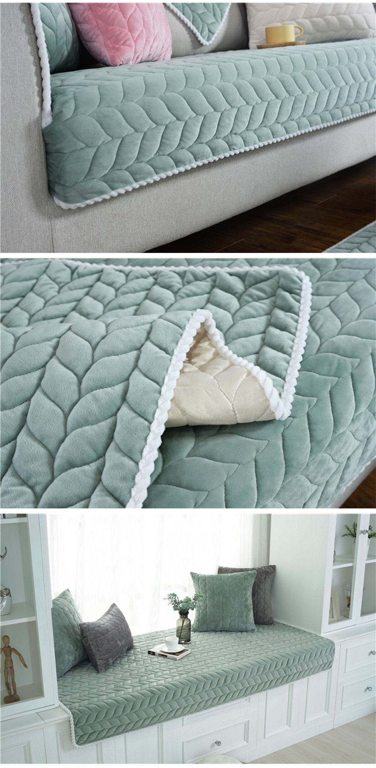 Solid Washable Sofa Cover