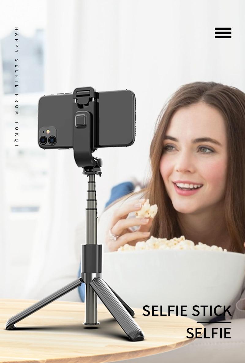3 in 1 Wireless Bluetooth Selfie Stick for Smartphone